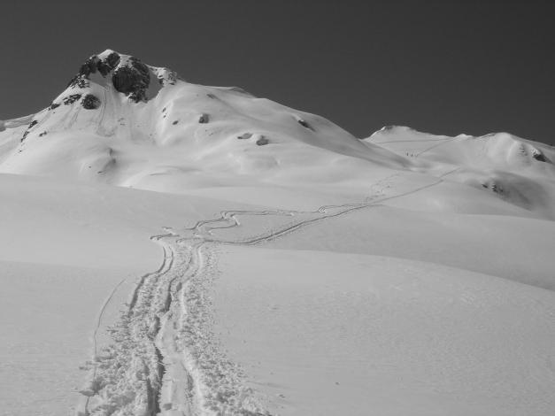 """Foto: Manfred Karl / Ski Tour / Hundstodreib´n """"von hint´ her"""" / Zurück zum Seehorn / 19.12.2009 15:05:36"""