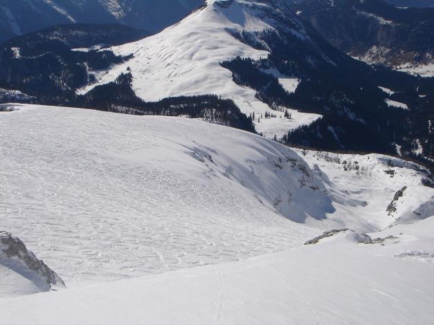 """Foto: Manfred Karl / Ski Tour / Hundstodreib´n """"von hint´ her"""" / Seehornabfahrt / 19.12.2009 15:04:41"""