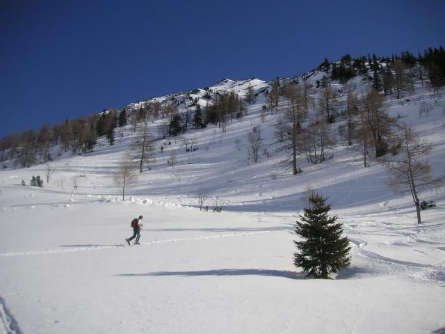Foto: Wolfgang Lauschensky / Ski Tour / Schmalztrager - Überschreitung / Einstig in den Westhang / 21.12.2009 15:10:36