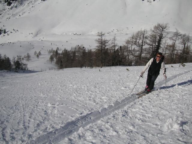 Foto: Wolfgang Lauschensky / Ski Tour / Schmalztrager - Überschreitung / steiler Anstieg / 21.12.2009 15:10:24