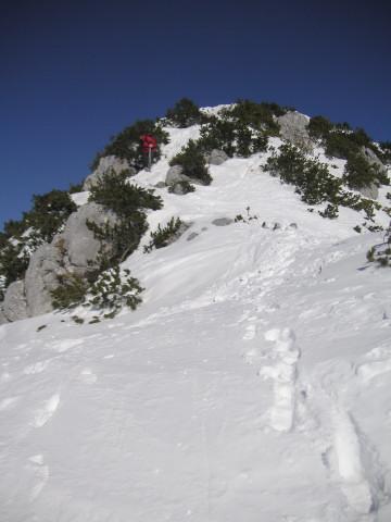 Foto: Wolfgang Lauschensky / Ski Tour / Schmalztrager - Überschreitung / der Gipfelaufschwung / 21.12.2009 15:09:14