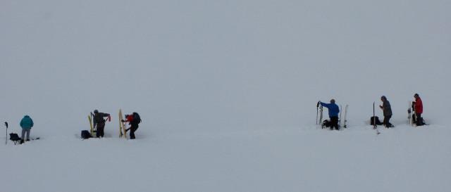 Foto: Wolfgang Lauschensky / Skitour / Glingspitze 2433m über Kreuzeck 2204m / wiederauffellen / 22.12.2009 17:22:18