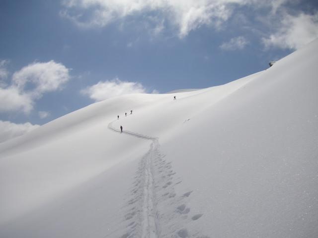 Foto: Wolfgang Lauschensky / Skitour / Glingspitze 2433m über Kreuzeck 2204m / Unendlichkeit / 22.12.2009 17:21:58