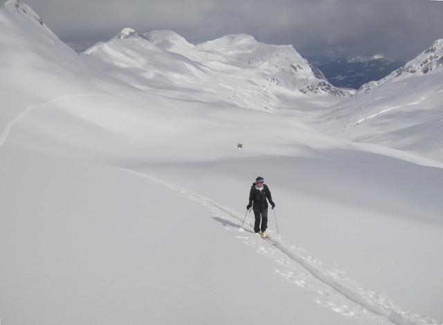 Foto: Wolfgang Lauschensky / Skitour / Glingspitze 2433m über Kreuzeck 2204m / Tappenkarsee / 22.12.2009 17:21:50