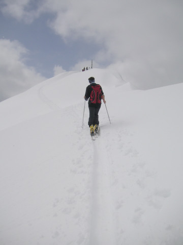 Foto: Wolfgang Lauschensky / Skitour / Glingspitze 2433m über Kreuzeck 2204m / letzte Querung / 22.12.2009 17:21:31