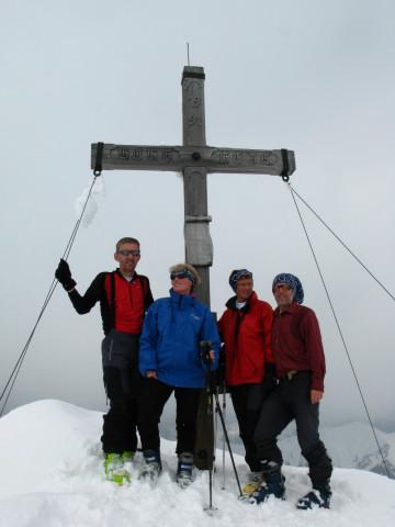 Foto: Wolfgang Lauschensky / Skitour / Glingspitze 2433m über Kreuzeck 2204m / einsames Gipfelziel Glingspitze / 22.12.2009 17:21:17