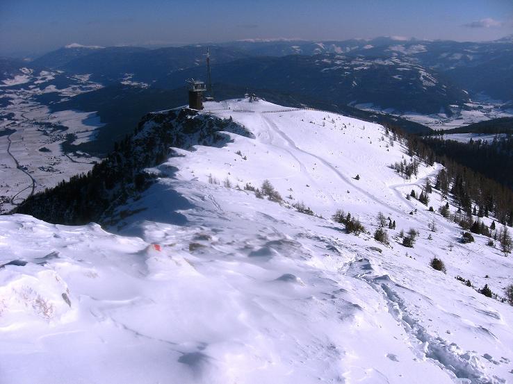 Foto: Andreas Koller / Ski Tour / Lungauer Grattour (2355 m) / Rückblick zum Großeck / 22.12.2009 23:53:39