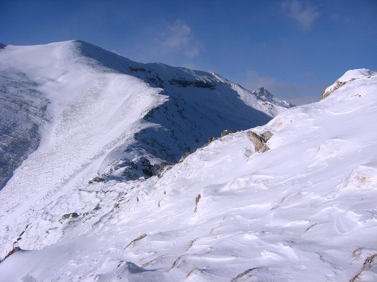 Foto: Andreas Koller / Ski Tour / Lungauer Grattour (2355 m) / Am Grat führt die Aufstiegsroute / 22.12.2009 23:53:23