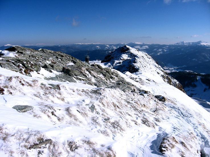 Foto: Andreas Koller / Ski Tour / Lungauer Grattour (2355 m) / Rückblick auf den Anstiegsgrat / 22.12.2009 23:51:37