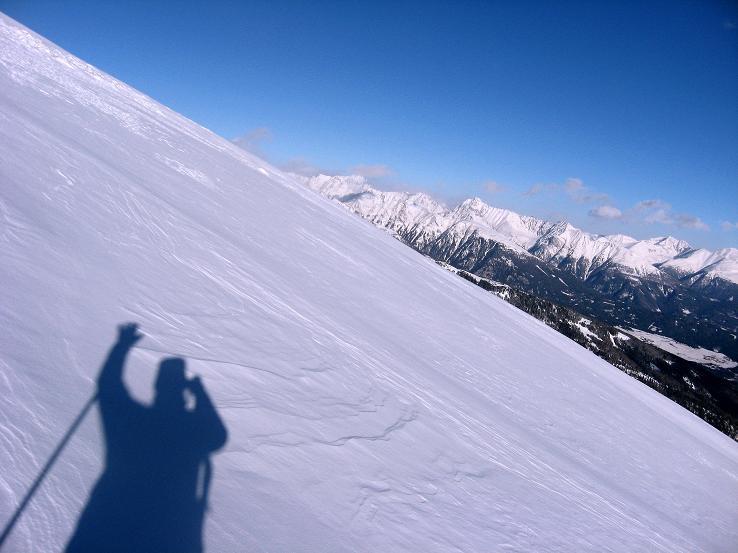 Foto: Andreas Koller / Ski Tour / Lungauer Grattour (2355 m) / Gipfelhang / 22.12.2009 23:50:20
