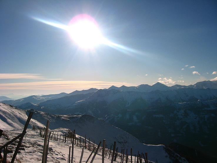 Foto: Andreas Koller / Ski Tour / Lungauer Grattour (2355 m) / Blick nach S / 22.12.2009 23:47:29