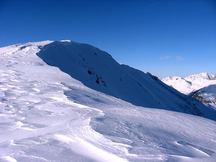 Foto: Andreas Koller / Ski Tour / Lungauer Grattour (2355 m) / Einfacher Gipfelaufbau des Großen Lanschütz / 22.12.2009 23:42:58