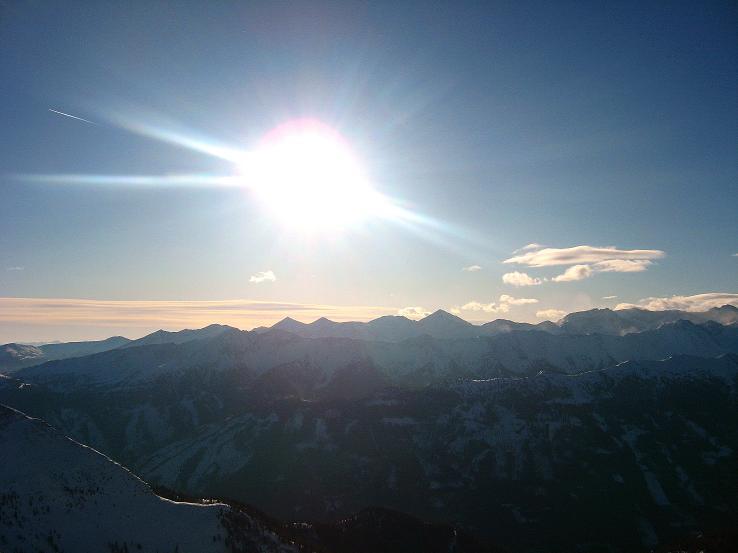 Foto: Andreas Koller / Ski Tour / Lungauer Grattour (2355 m) / Blick nach SW / 22.12.2009 23:40:51