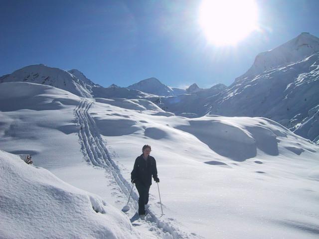Foto: Wolfgang Lauschensky / Skitour / Tristkogel 2642m / Ruhe kurz nach dem Pistenbetrieb / 24.12.2009 17:30:23
