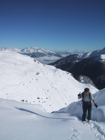 Foto: Wolfgang Lauschensky / Ski Tour / Tristkogel 2642m / enge Rinnen / 24.12.2009 17:30:11