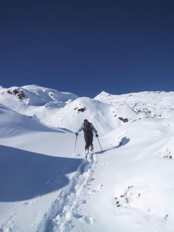 Foto: Wolfgang Lauschensky / Skitour / Tristkogel 2642m / etwas unübersichlicher Anstiegsweg / 24.12.2009 17:30:03