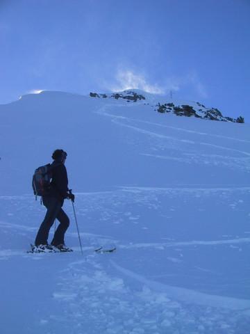 Foto: Wolfgang Lauschensky / Skitour / Tristkogel 2642m / Gipfelhang / 24.12.2009 17:29:29