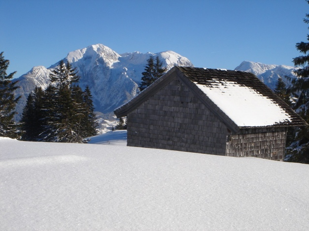 Foto: Manfred Karl / Ski Tour / Von Gerstreit auf das Hirscheck / Hoher Göll vom Toten Mann / 25.12.2009 18:28:12