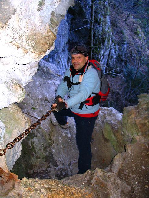 Foto: Andreas Koller / Klettersteigtour / Rudolf-Decker-Steig (720 m) / Ausstieg Windschützenloch / 27.12.2009 01:51:09