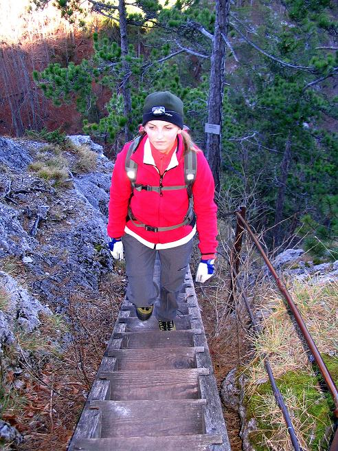 Foto: Andreas Koller / Klettersteigtour / Rudolf-Decker-Steig (720 m) / Zum Ausstieg / 27.12.2009 01:46:46