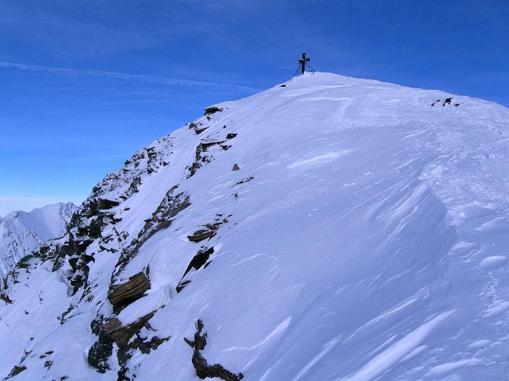 Foto: Andreas Koller / Ski Tour / Aus dem Astental auf den Stellkopf (2851 m) / Die letzten steilen Meter zum Stellkopf / 01.01.2010 21:30:42