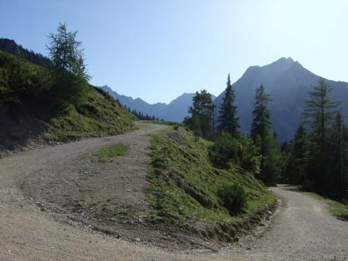 Foto: hofchri / Mountainbike Tour / Rund um das Sonnjoch über Lamsen- (1953 m) und Plumsjoch (1664 m) / Uphill zum Plumsjoch / 01.01.2010 12:09:15