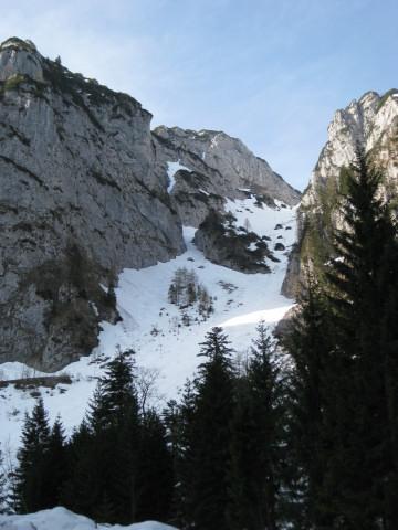 Foto: Wolfgang Lauschensky / Ski Tour / Rauschberg - Roßgasse / erster Einblick in die Roßgasse / 31.12.2009 16:19:26