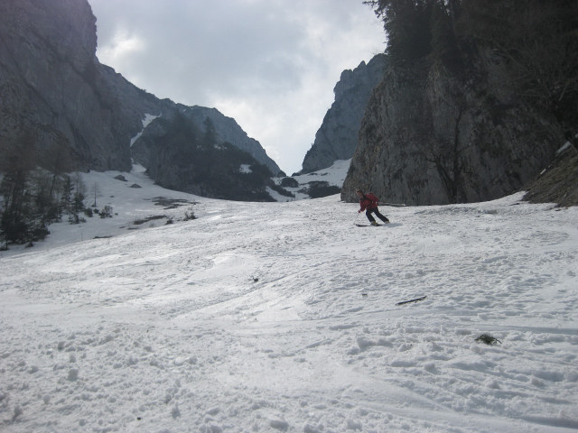 Foto: Wolfgang Lauschensky / Ski Tour / Rauschberg - Roßgasse / unterhalb der felsigen Engstelle / 31.12.2009 16:16:08
