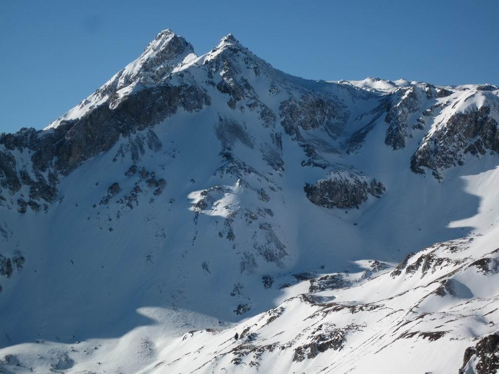 Foto: Heidi Schützinger / Ski Tour / Karkopf von der Muhreralm / wunderbarer Blick auf die Mosermandln / 28.12.2011 18:49:31