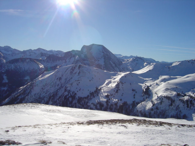Foto: Manfred Karl / Ski Tour / Karkopf von der Muhreralm / Blick zum Weißeck / 03.01.2010 17:27:59