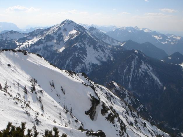 Foto: Manfred Karl / Ski Tour / Auf den Hochfelln von Kohlstatt / Blick zum Hochgern / 03.01.2010 18:43:54