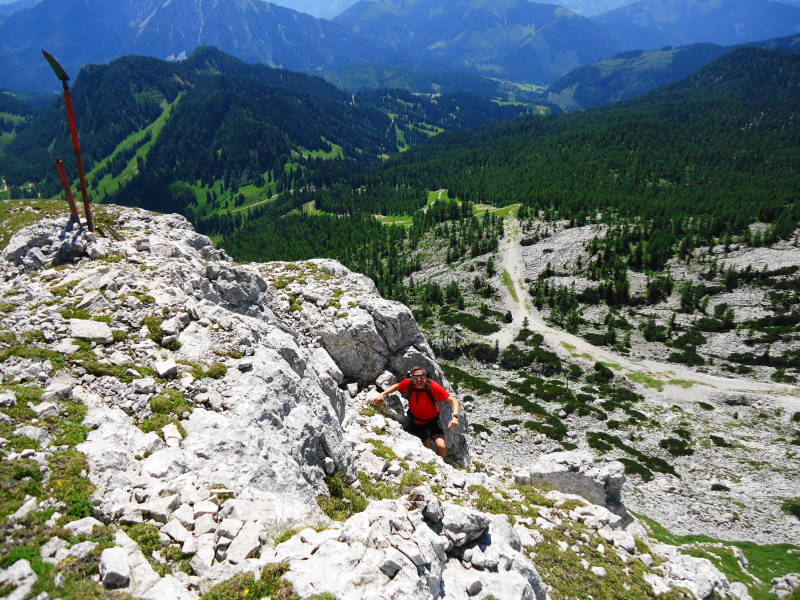 Foto: Günter Siegl / Wander Tour / Ramesch (2.119m) - Ost/West-Überschreitung / Schaufel-Gipfel / 28.07.2017 20:38:56