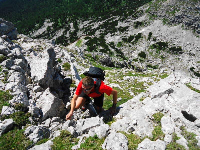 Foto: Günter Siegl / Wander Tour / Ramesch (2.119m) - Ost/West-Überschreitung / Am Ostgipfel / 28.07.2017 20:37:49