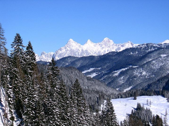 Foto: Andreas Koller / Ski Tour / Traumtour auf Spirzinger und Spazeck (2066 m) / Blick zum Dachstein (2996 m) / 06.01.2010 02:18:53