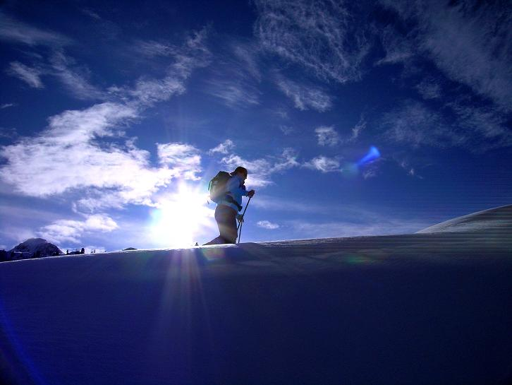 Foto: Andreas Koller / Ski Tour / Traumtour auf Spirzinger und Spazeck (2066 m) / Aufstieg von der Südwiener Hütte auf den Spirzinger / 06.01.2010 02:15:06