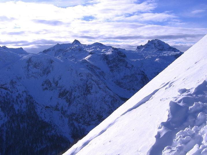 Foto: Andreas Koller / Ski Tour / Traumtour auf Spirzinger und Spazeck (2066 m) / Blick nach W zum Mosermandl (2680 m) und Faulkogel (2654 m) / 06.01.2010 02:12:17