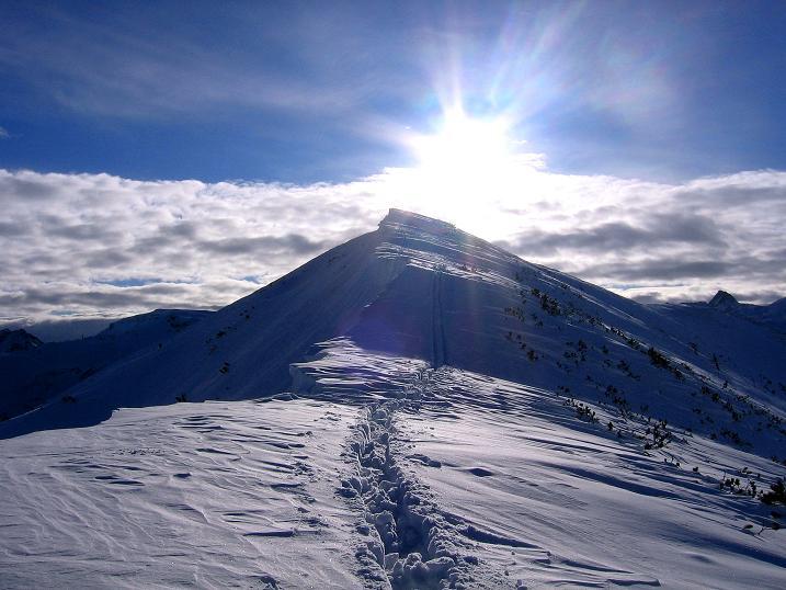 Foto: Andreas Koller / Ski Tour / Traumtour auf Spirzinger und Spazeck (2066 m) / Rückblick zum Spirzinger / 06.01.2010 02:10:16