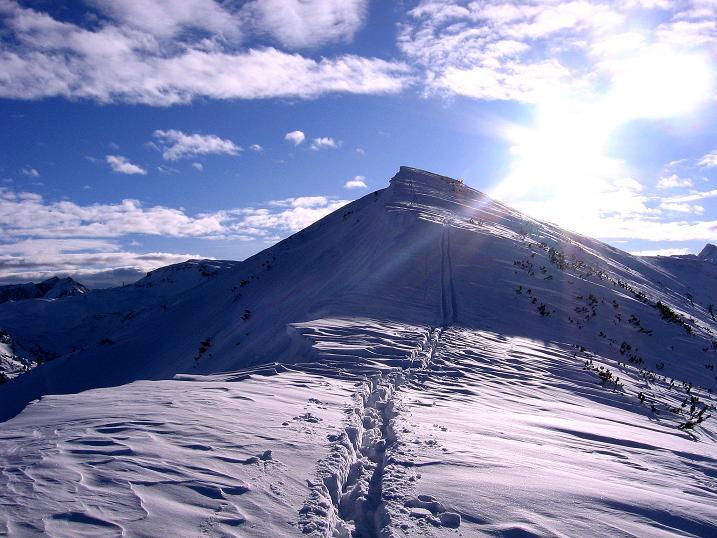 Foto: Andreas Koller / Ski Tour / Traumtour auf Spirzinger und Spazeck (2066 m) / Kurz vor dem Spirzinger am Verbindungsgrat / 06.01.2010 02:06:44