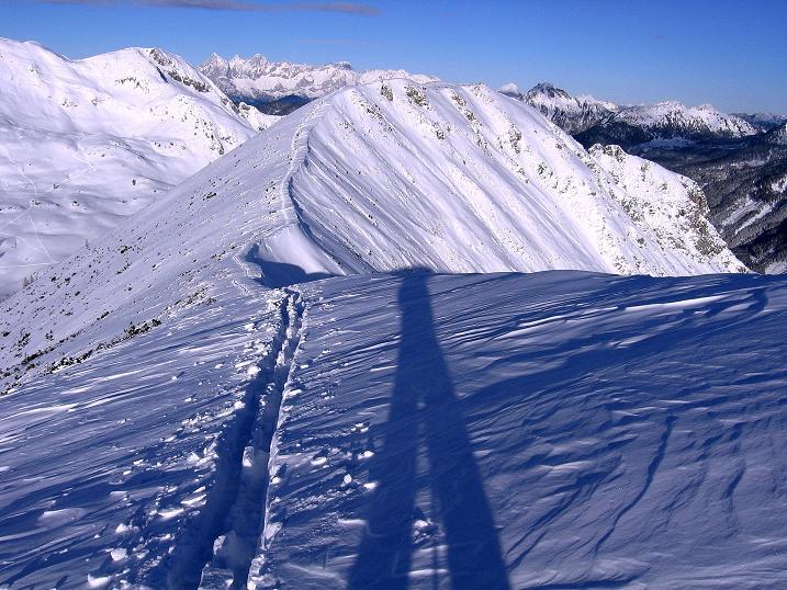 Foto: Andreas Koller / Ski Tour / Traumtour auf Spirzinger und Spazeck (2066 m) / Rückblick zum Spazeck / 06.01.2010 02:06:21