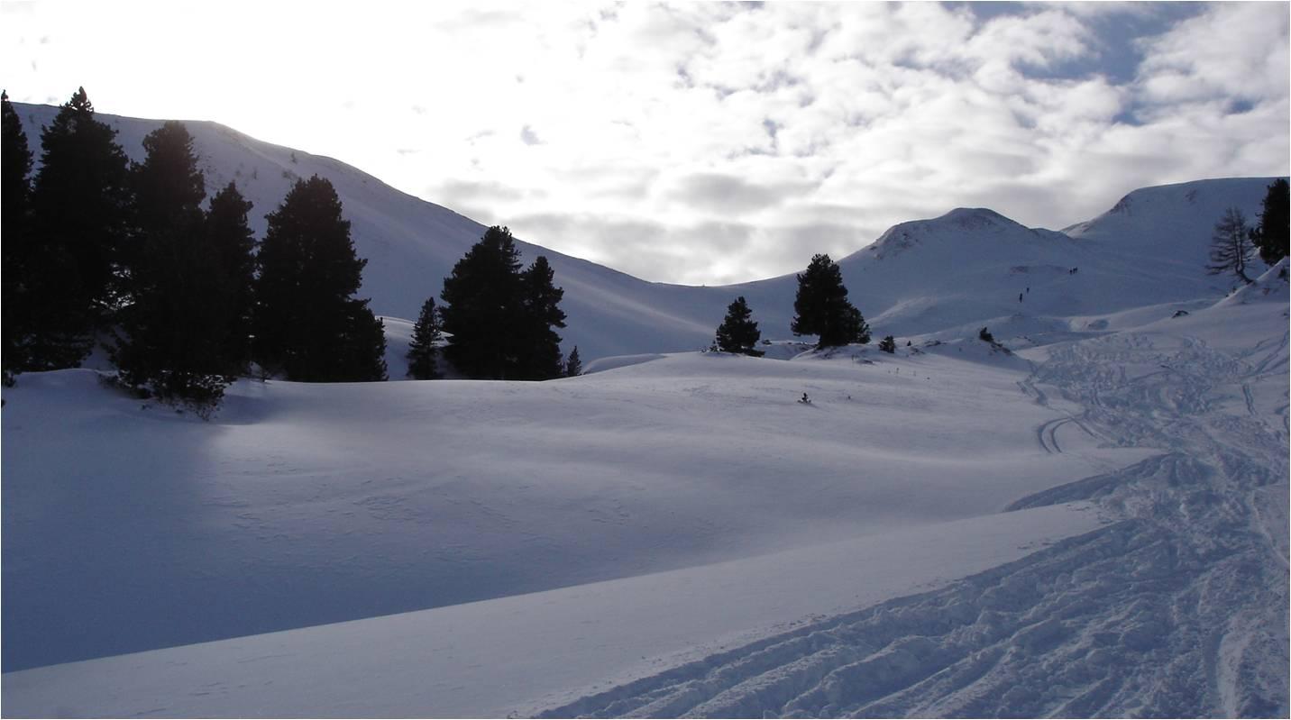Foto: gumpiand / Ski Tour / Über die Urbanbauernalm zum Schöpfing  / Rechts hinten der Schöpfling / 07.01.2010 10:36:03