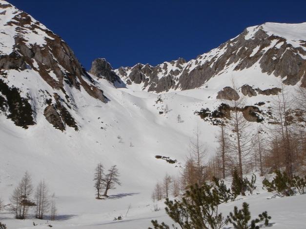 Foto: Manfred Karl / Ski Tour / Über die Hafeichtscharte auf den Großen Bärenstaffel / Zwischen Windschaufel und Steinfeldspitze / 10.03.2013 17:34:44