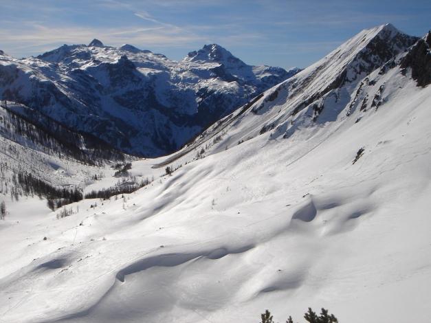 Foto: Manfred Karl / Ski Tour / Über die Hafeichtscharte auf den Großen Bärenstaffel / Windschaufel / 10.03.2013 17:32:37