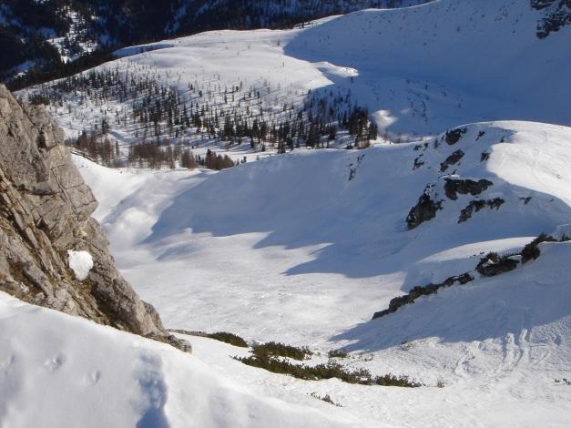 Foto: Manfred Karl / Ski Tour / Über die Hafeichtscharte auf den Großen Bärenstaffel / Bärenstaffel ostseitige Abfahrt / 10.03.2013 17:31:05