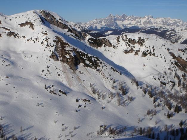 Foto: Manfred Karl / Ski Tour / Über die Hafeichtscharte auf den Großen Bärenstaffel / Gr. Bärnstaffl vom Spazeck / 07.01.2010 20:00:39