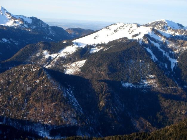 Foto: Manfred Karl / Ski Tour / Von Urschlau auf die Haaralmschneid / Haaralmschneid und Hochfelln von der Hörndlwand / 07.01.2010 20:51:25