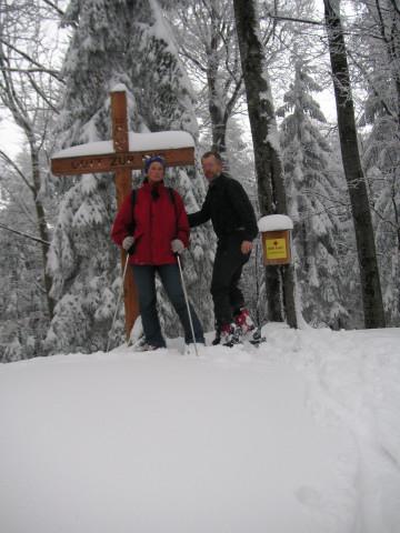 Foto: Wolfgang Lauschensky / Ski Tour / Gurlspitze 1158m / mehrdeutige  'geistige' Erste Hilfe am Gipfel / 08.01.2010 14:39:29