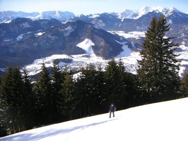 Foto: Wolfgang Lauschensky / Ski Tour / Hochgern 1743m / freie Südhänge unter dem Hochgernhaus / 08.01.2010 16:36:58