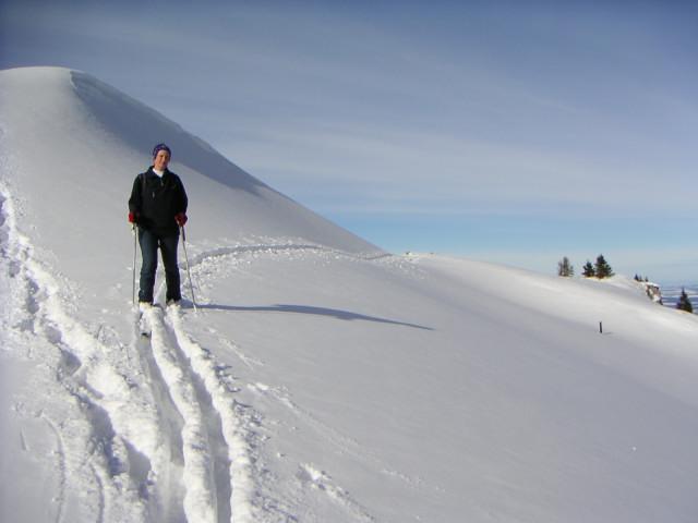 Foto: Wolfgang Lauschensky / Ski Tour / Hochgern 1743m / mildes Wanderterrain / 08.01.2010 16:36:06
