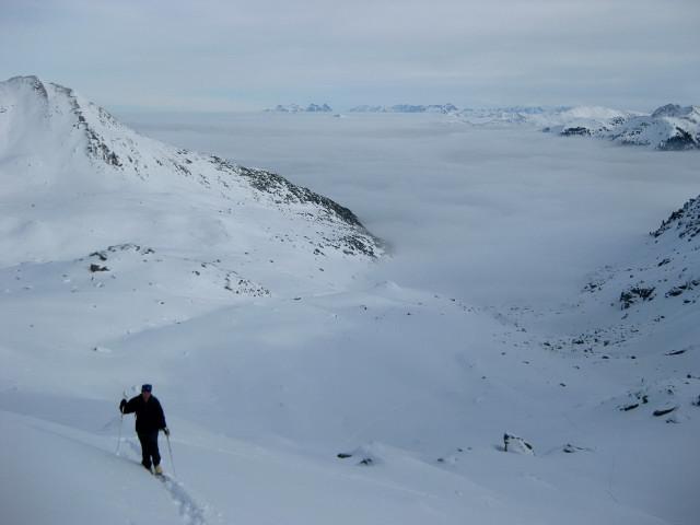 Foto: Wolfgang Lauschensky / Ski Tour / Gressenstein 2216m / Ansatz des steilen Osthanges / 10.01.2010 12:24:05