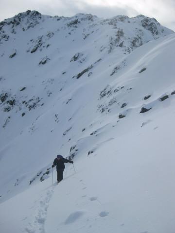 Foto: Wolfgang Lauschensky / Ski Tour / Gressenstein 2216m / steiler Osthang  / 10.01.2010 12:23:51